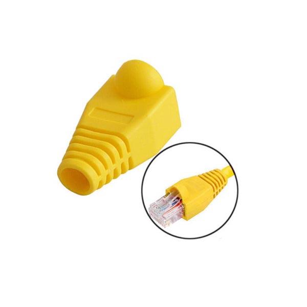 119914742 کاور کانکتور رنگ زرد بسته 25 عددی