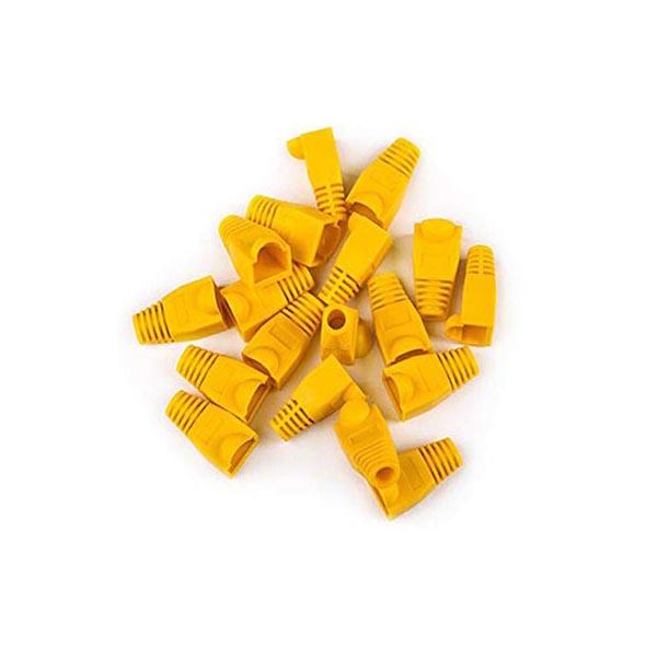 119914751 کاور کانکتور رنگ زرد بسته 25 عددی