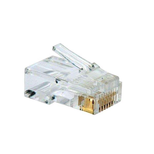 4306386 کانکتور Cat6 ای ام پی (AMP) فلوک پاس (Fluke pass) بسته 100 عددی