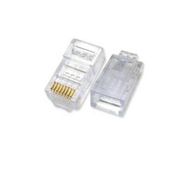 s l300 1 کانکتور Cat6 ای ام پی (AMP) فلوک پاس (Fluke pass) بسته 100 عددی