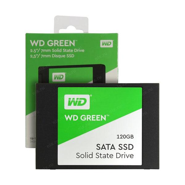 Western Digital WDS120G2G0A 33557615675 اس اس دی اینترنال وسترن دیجیتال مدل GREEN WDS120G2G0A ظرفیت 120 گیگابایت
