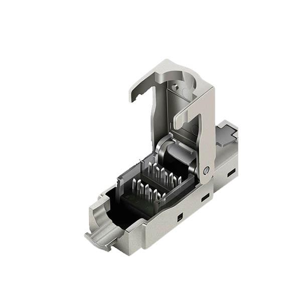 plug cat6 sftp3 پلاگ (سوکت) شبکه ی CAT6 STP Toolless فلوک پاس