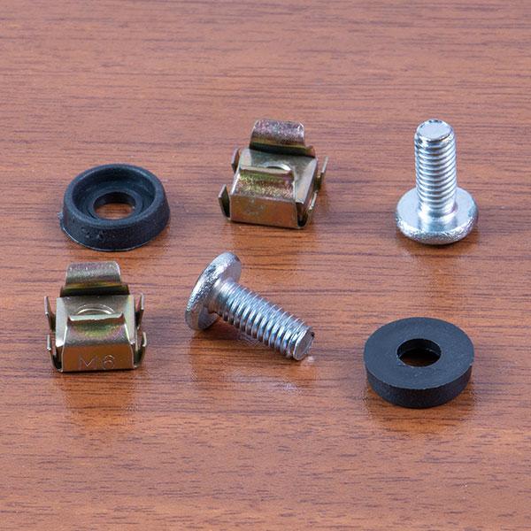 154677823790317556 پیچ مخصوص رک با مهره کیج نات و واشر مدل 2000853 بسته 50 عددی